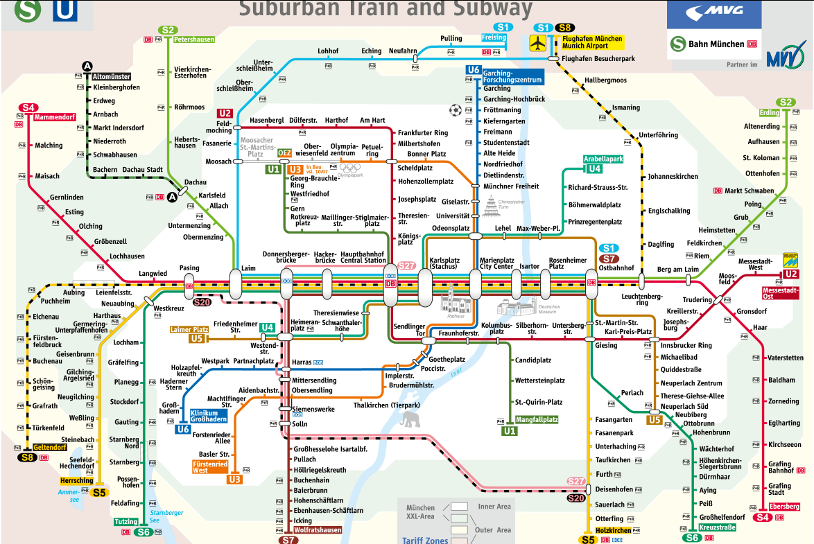 Munich Mass Transit Information - Mvv Munich