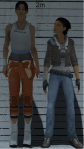 Portal 2's Chell stands next to Half Life 2's Alyx Vance (By NRApros of Facepunch, with GMod)