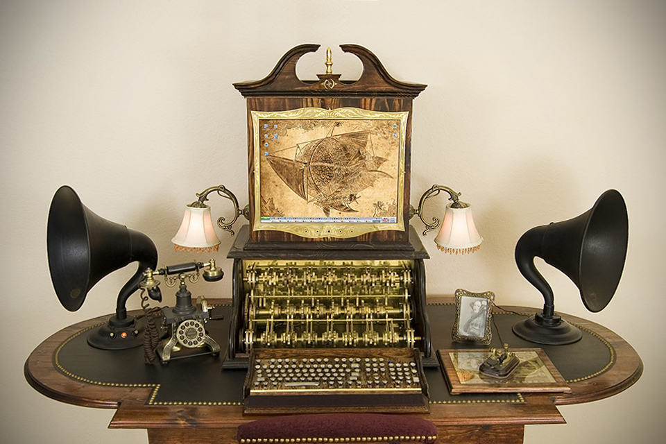 Victorian Retro Steampunk Computer By Datamancer Mikeshouts