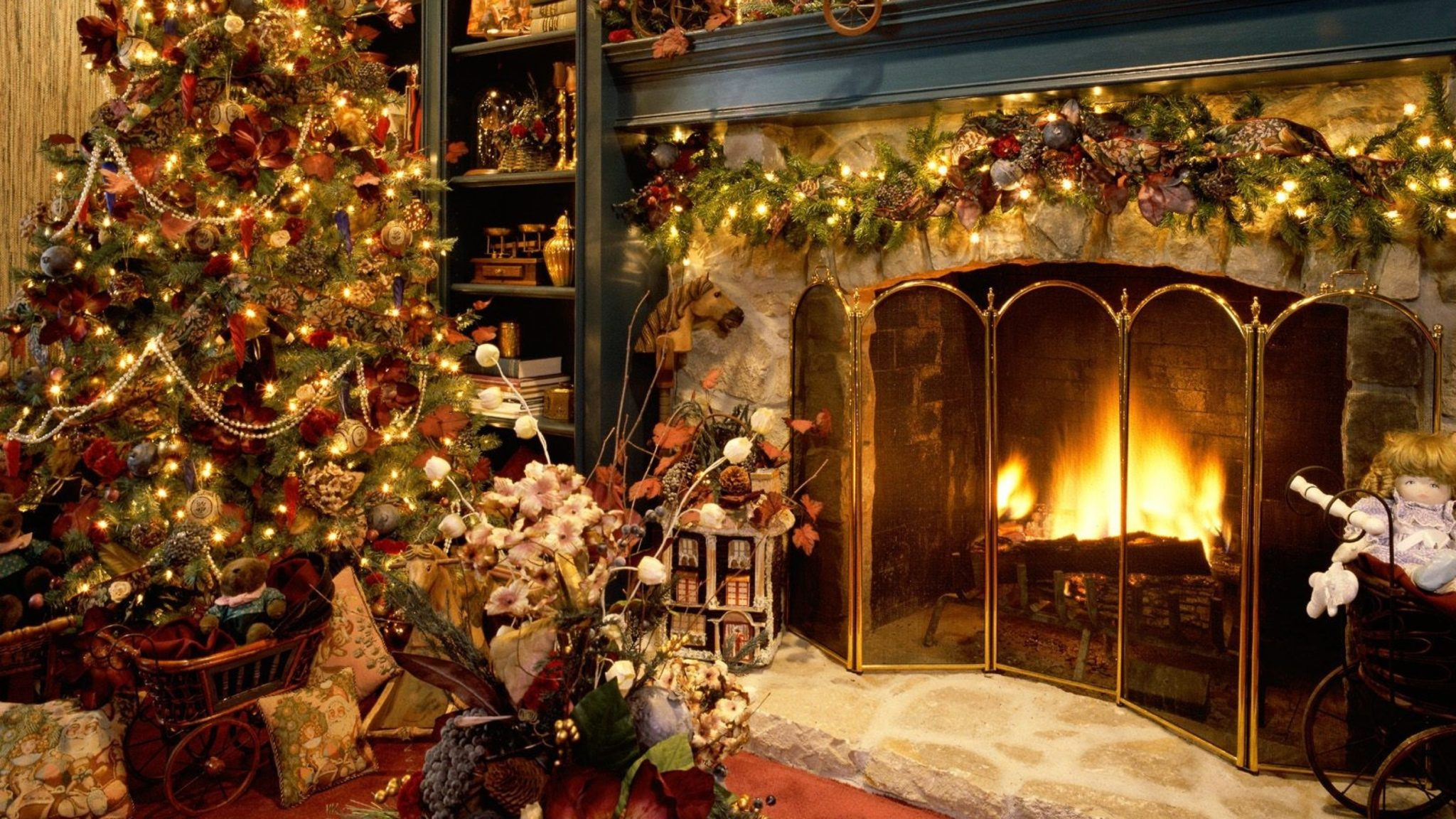 Christmas Fireplace Wallpaper Christmas Fireplace Wallpaper 2 Michael Walsh Quality Books