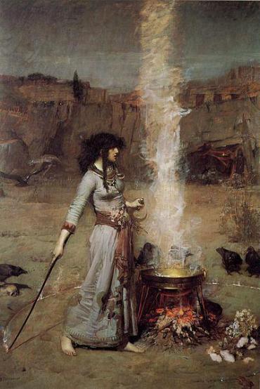 Magico cerchio di J. W. Waterhouse, 1886