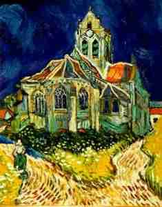 chiesa di Auvers- Van Gogh, 1890