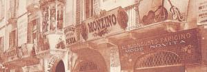 L'insegna della bottega di Antonio Monzino