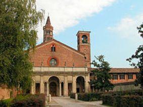La corte d'ingresso all'abbazia
