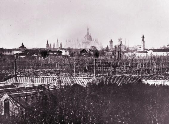 Fotografia d'epoca della zona Orti, nel 1870-75