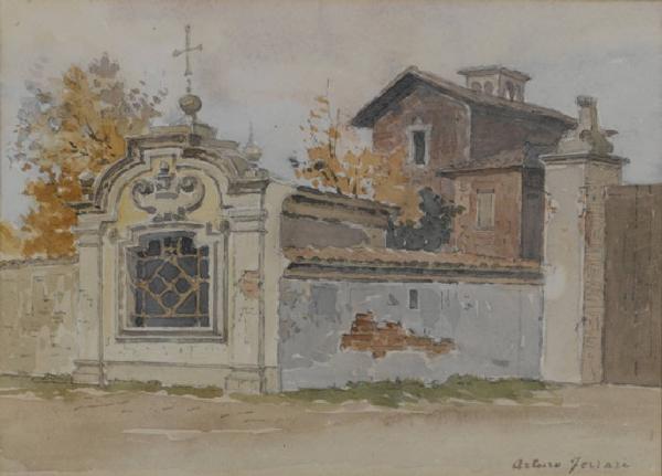 L'acquarello El Fopponin fuori Porta-Magenta di Arturo Ferrari, datato tra il 1890-1910.