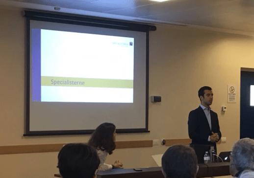 Pablo Mas, Responsabile dello sviluppo del progetto Specialisterne, alla presentazione dell'iniziativa
