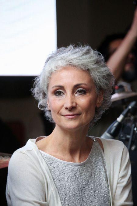 La fotografa e giornalista Silvia Amodio alla presentazione della mostra
