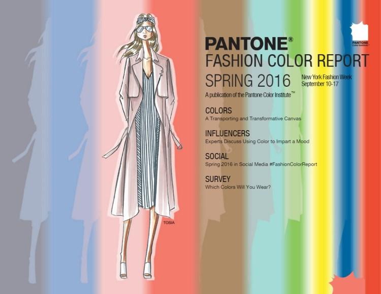 Pantone Fashion color report SS 2016
