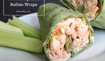 Quick dinners: Easy Chicken Spinach Buffalo Wraps