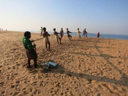 Fishermen in Kerala, India.