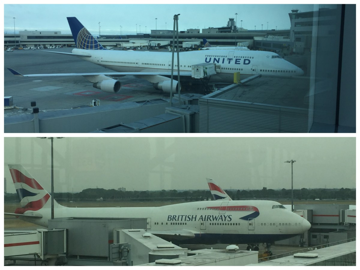 A tale of two jumbos - United and BA transatlantic First Class