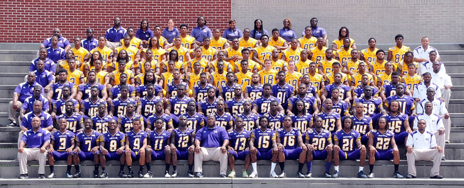 Alabama Football Roster 2013 Football Roster Miles College Athletics