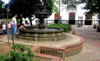 Medellin City Tour - Small square in Envigado.