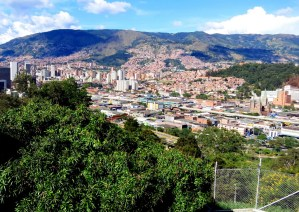 View of Medellin from Pueblita Paisa.