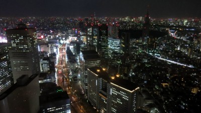 Shinjuku night view.