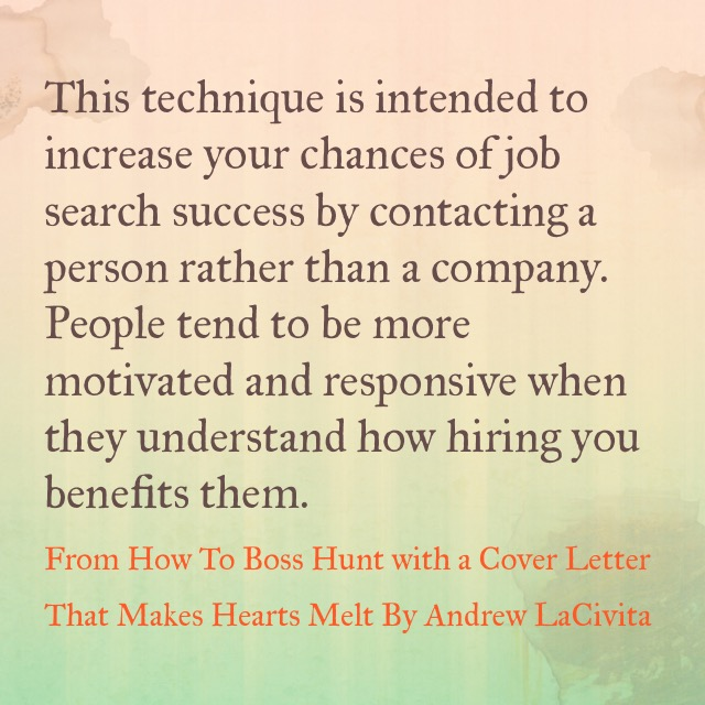How to Boss Hunt with a Cover Letter That Makes Hearts Melt
