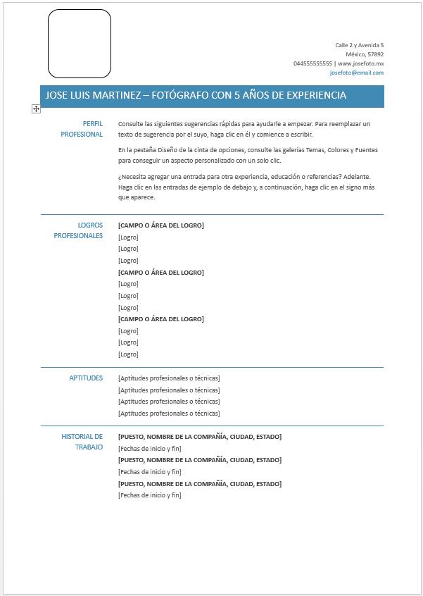 descarga gratuita de formatos para cv en word