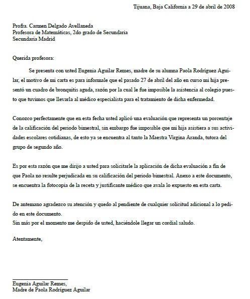 Carta para una Maestra o Maestro \u003e Formatos y Ejemplos Milformatos