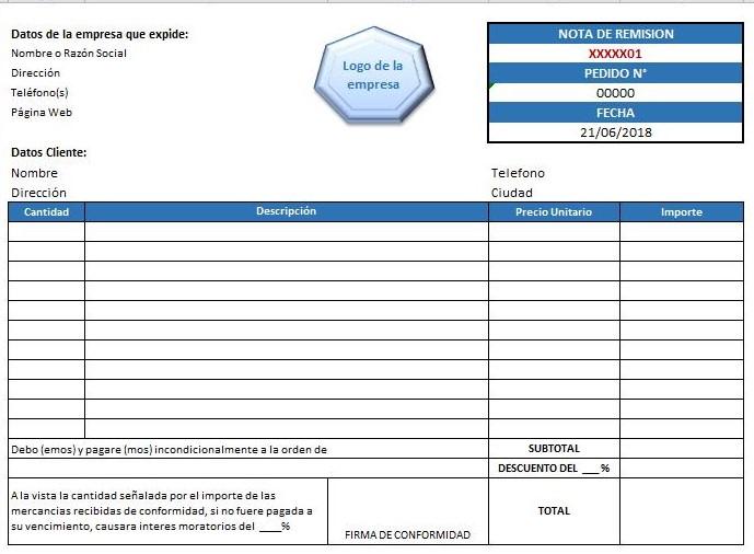 Formato de Factura \u003e Ejemplos y Formatos Descarga Gratis