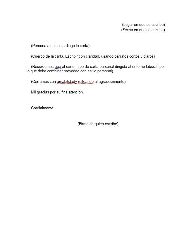 Carta de despedida de trabajo \u003e Formatos y Ejemplos Word para Imprimir