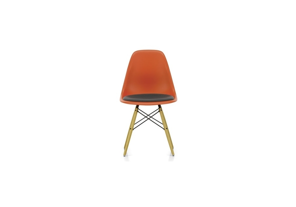 Eames Plastic Side Chair Dsr Stuhl Mit Kissen Vitra - Kissen Eames Chair