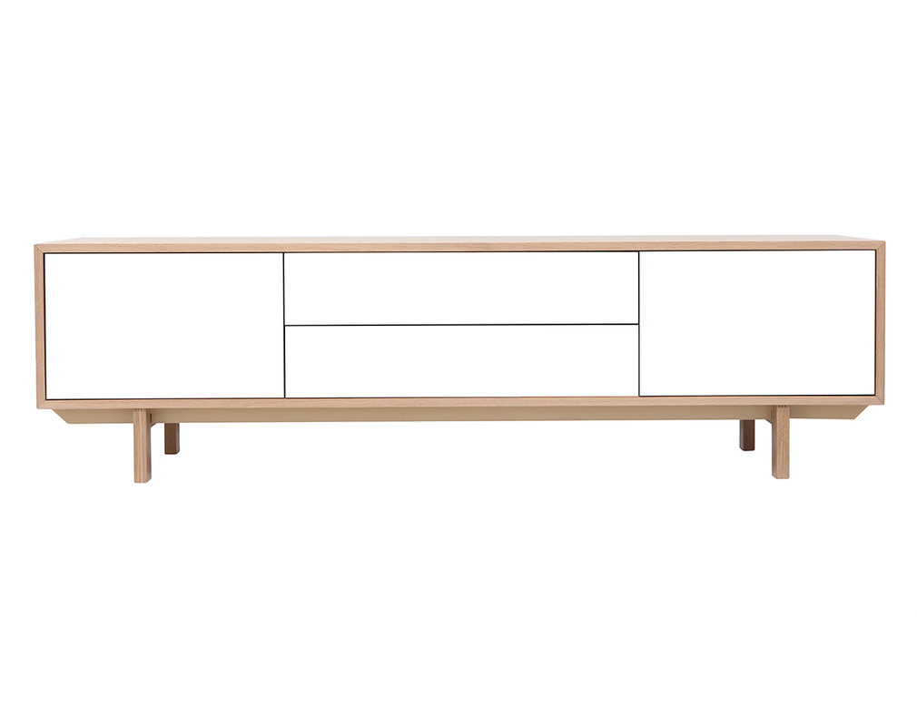 Tv Möbel Nordic Scandinavian Wood And White Tv Stand 180 Cm Sid Miliboo
