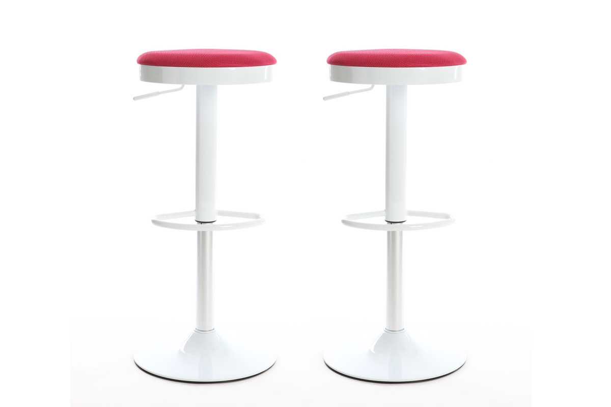 Tabouret Bar Rose Lot De 2 Tabourets De Bar Design Roses Janus Miliboo