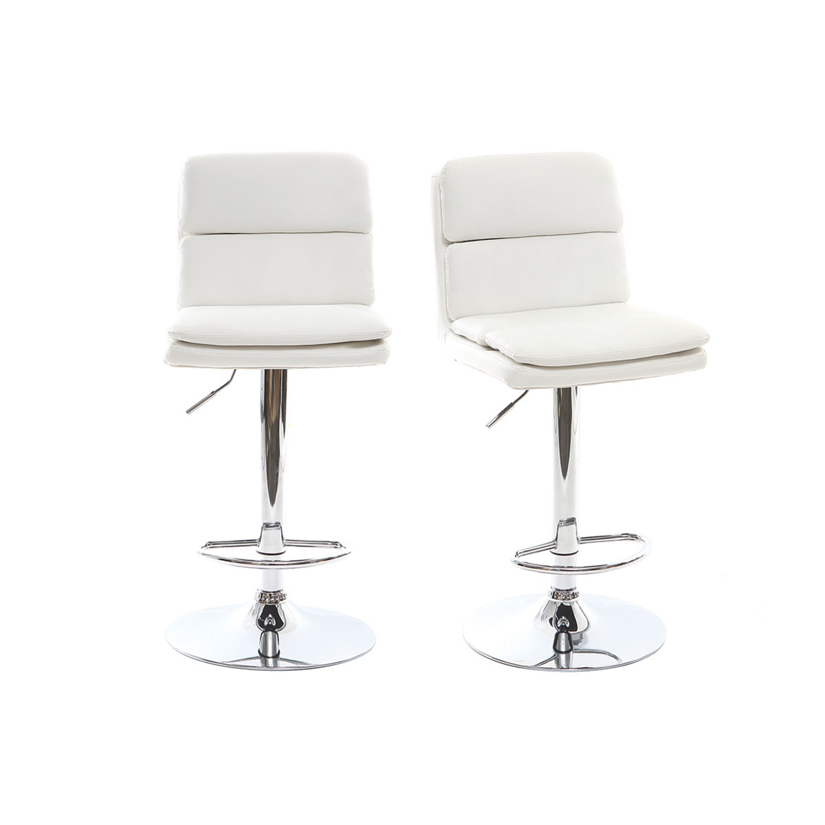 Charly Lot De 2 Tabourets De Bar Noirs Tabouret De Bar Design Simili