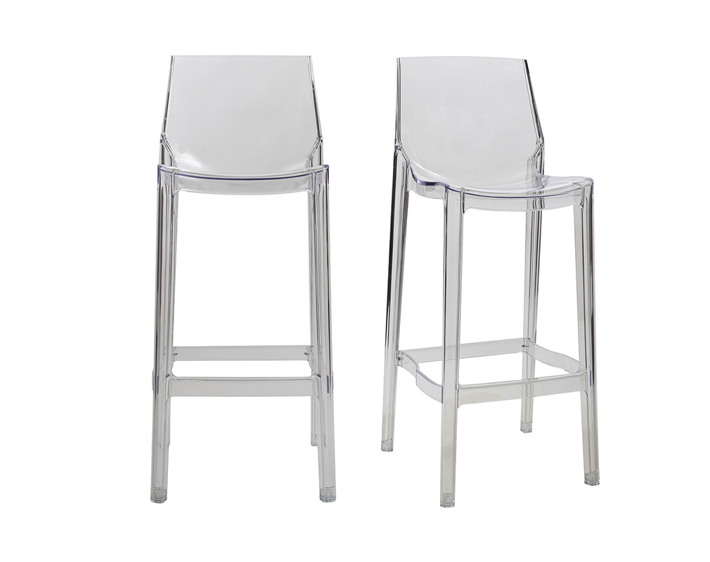 Tabouret De Bar Design Transparent Lot De 2 Ylak Miliboo