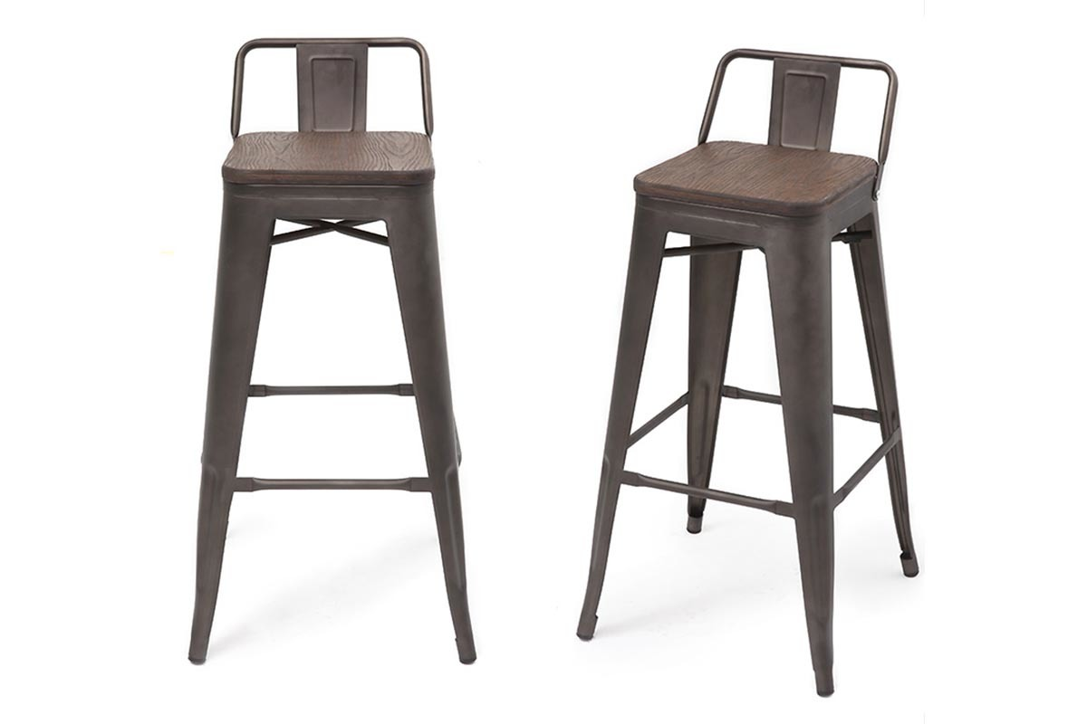 Tabourets De Bar Empilable Tabouret Bar Style Industriel