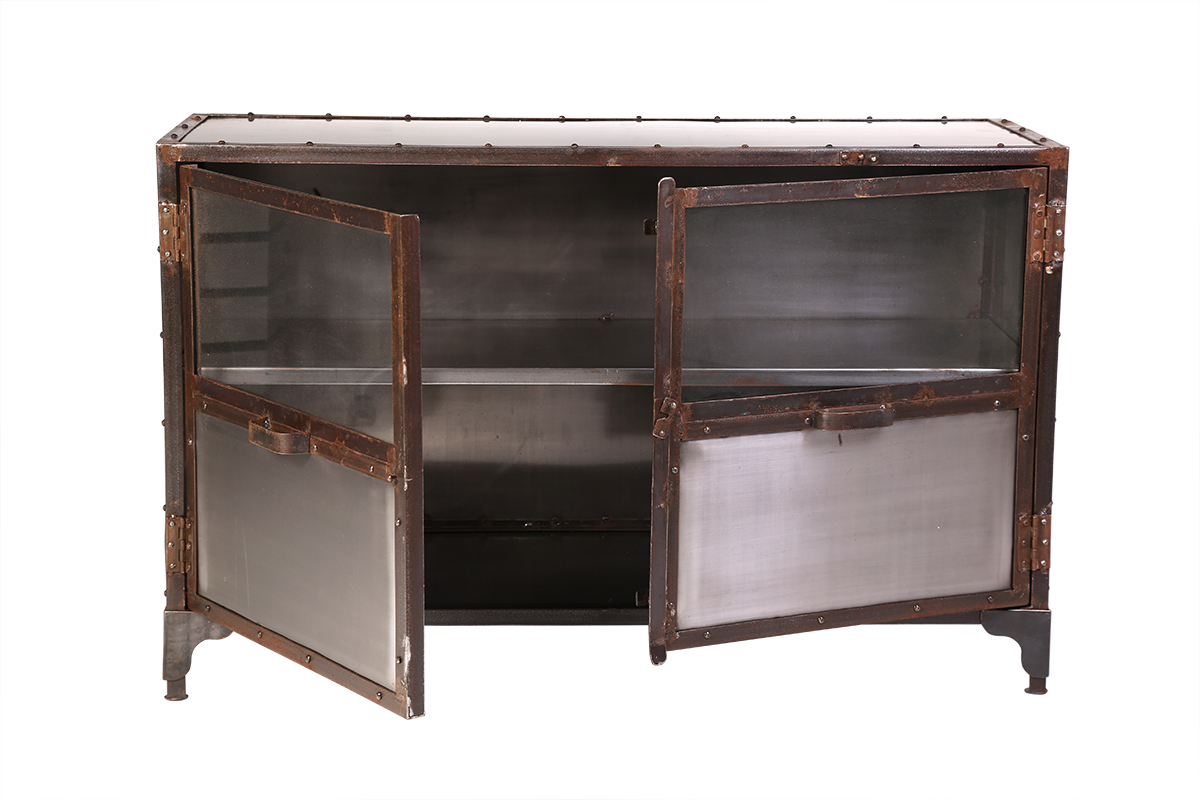 Sideboard Metall Industrie Sideboard Industrie Metall 2 Türen Factory Miliboo