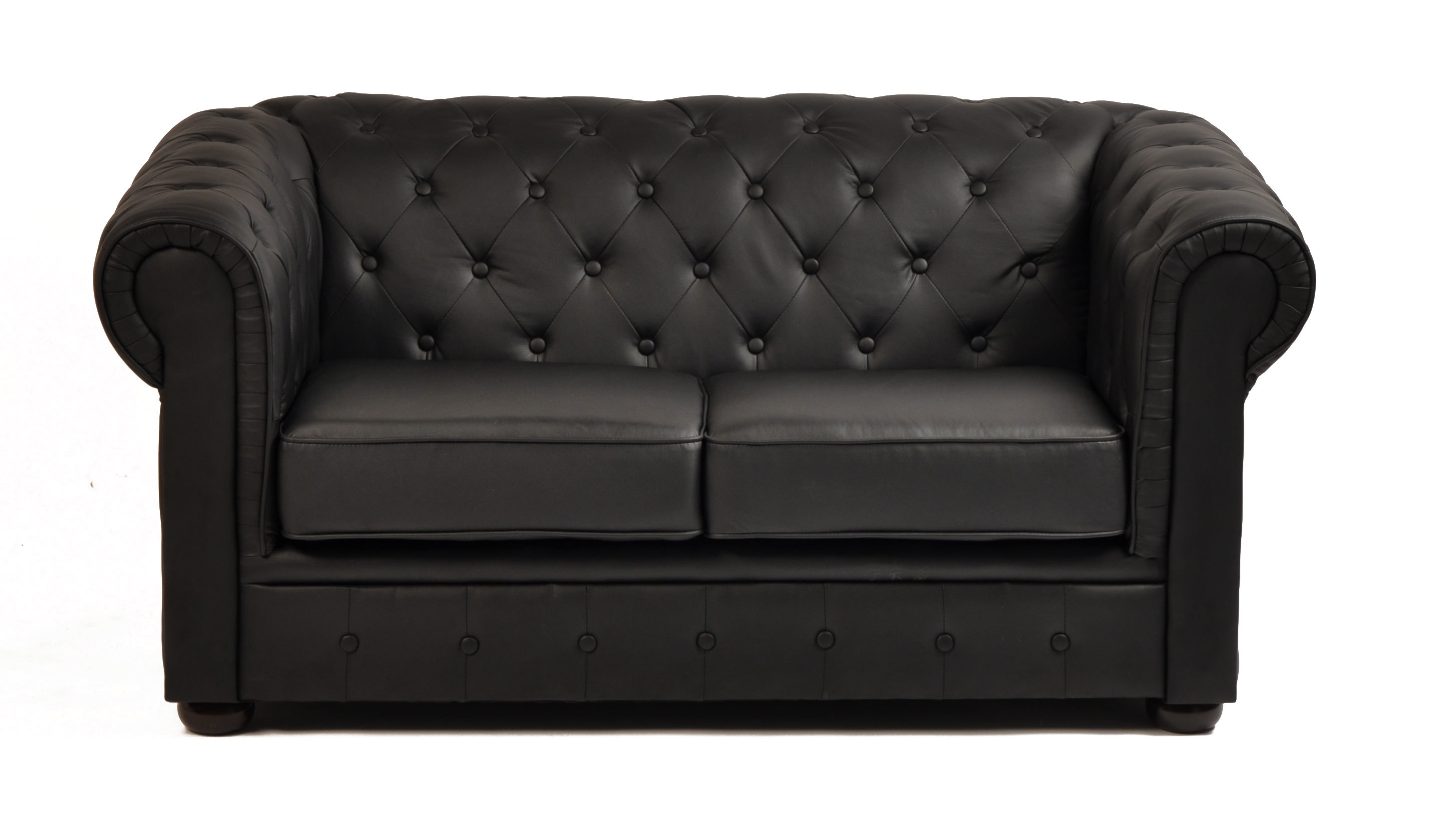 Canapé Chesterfield 2 Places Canapé Chesterfield Noir 2 Places Miliboo