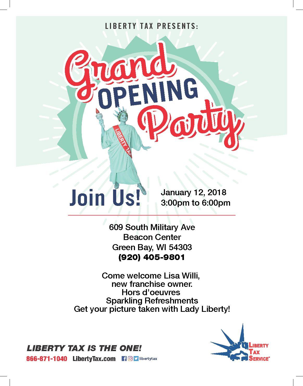 Fullsize Of Grand Opening Invitation