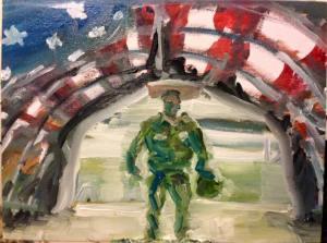 """Hero Hallway, Balad, Iraq"" / David Eckerson"