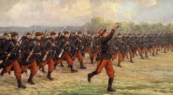The French army waited until the First World War to give up its flashy red pants.