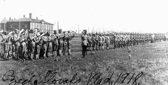 The legion arrived in Vladivostok where it linked up with White Russian forces and an allied intervention Army made up of British, Canadian, American, French, Italian and Japanese troops.