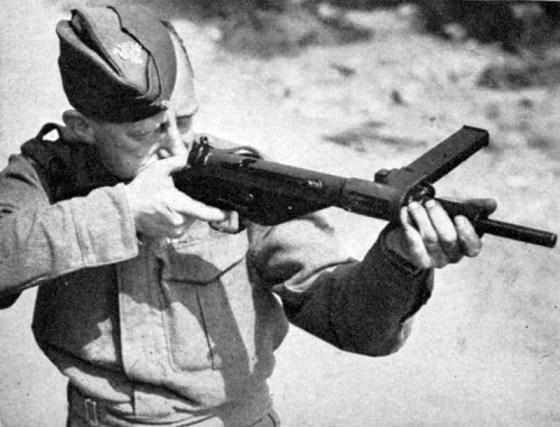 The Sten gun was Britain's principle sub-machine gun of World War Two.