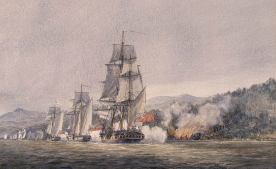 One of the first naval encounters of the American Revolution took place in the interior of the continent on Lake Champlain. The strategically vital inland waterway had been the seen of many clashes over the centuries.