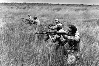Tens of thousands of Cuban soldiers fought in the Angolan Civil War during the 1970s and 80s. Photo by the Associated Press.
