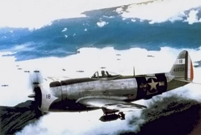 Mexican P-47s over the Philippines in 1945. (Image source: WikiCommons)