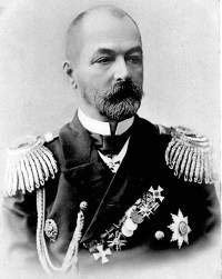 Zinovi Petrovich Rozhestvenski, admiral of Russia's Second Pacific Fleet.  (Image source: WikiCommons)