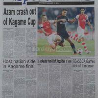 Magazeti ya leo August 21 2014 na stori kubwa za Udaku, Michezo na Hardnews