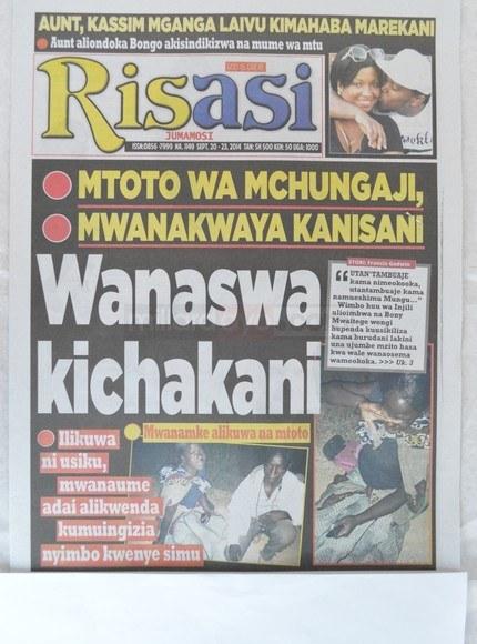 Stori kubwa magazetini leo Sept 20 2014 Udaku, Michezo na Hardnews