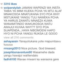 Kilichomfanya Jacqueline Wolper aifute hii picha ya Lucy Komba instagram....