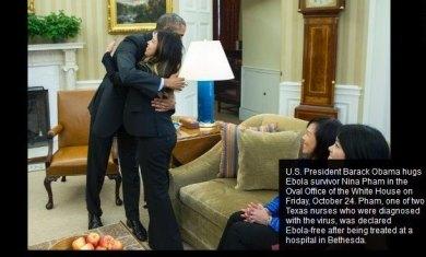 Obama Hugs Nina Pham