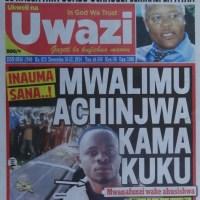 Ziko hapa kurasa za mwanzo na mwisho za Magazeti ya leo December 16, 2014