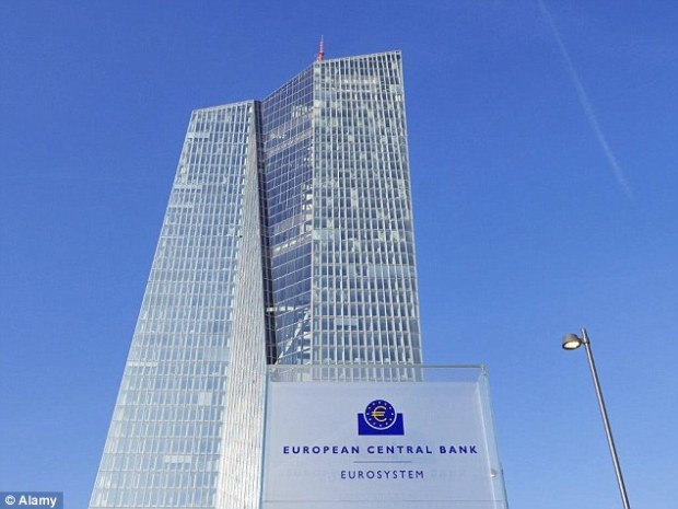 The Seat of the European Central Bank is found in two towers connected by an atrium