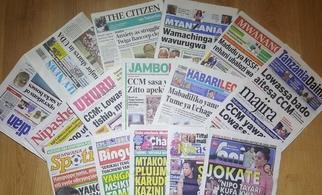 Tanzania newspaperss of 29.10.2016 read here now