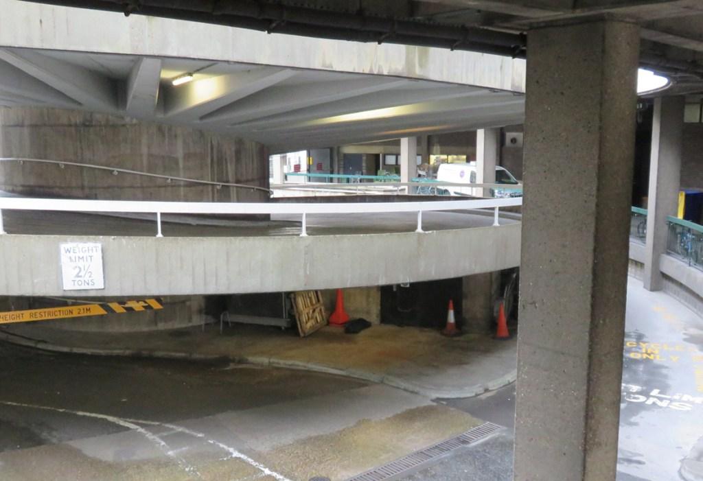 Base of Buildings, Service Areas & Rear Car Park